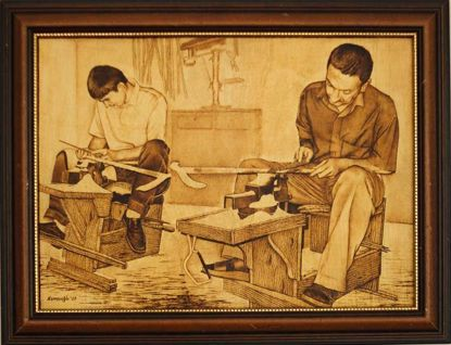 Picture of Craftsmen Making Walking Sticks