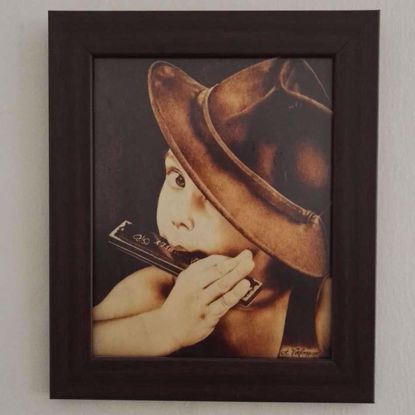 Picture of Playing Harmonica with a Fedora