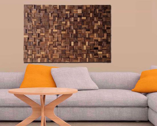 Picture of Mosaic Wall Art - Natural USA Walnut