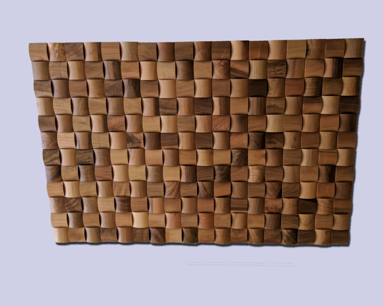 Picture of Mosaic Wall Art -  Leste Walnut