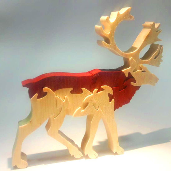 Picture of Wooden Puzzle - Reindeer