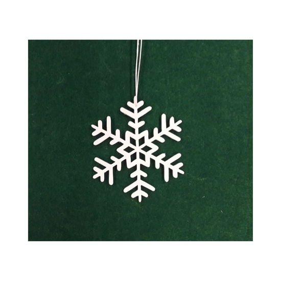 Picture of Wooden Christmas Ornaments - Snowflakes Set