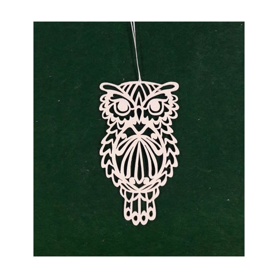 Picture of Wooden Christmas Ornaments - Owl Set-1