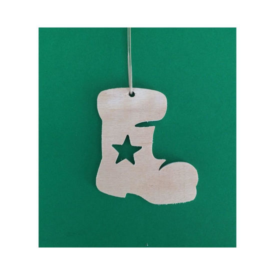Picture of Wooden Christmas Ornaments - Big Mix Set-2