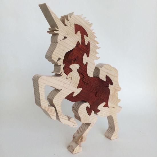 Picture of Wooden Puzzle - Unicorn - 2