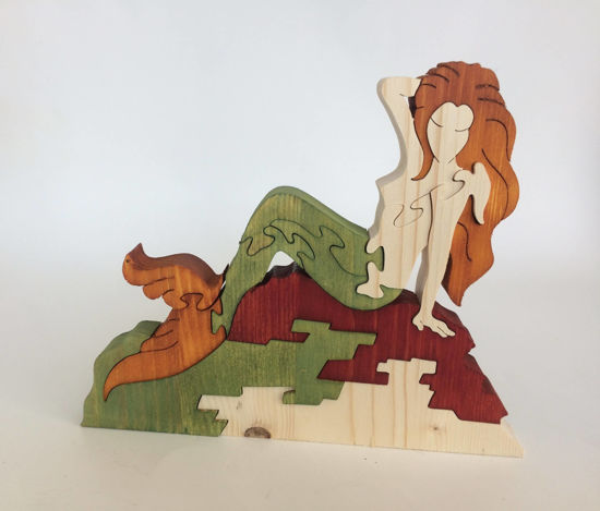 Picture of Wooden Puzzle - Mermaid