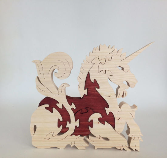 Picture of Wooden Puzzle - Unicorn