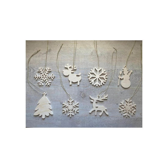 Picture of Wooden Christmas Ornaments - Big Mix Set-1
