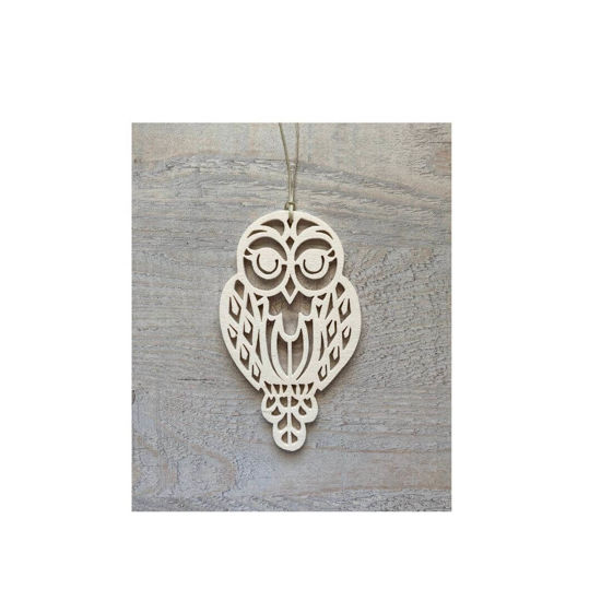 Picture of Wooden Christmas Ornaments - Owl Set-3